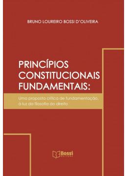 PRINCÍPIOS CONSTITUCIONAIS FUNDAMENTAIS: uma proposta crítica de fundamentação, à luz da filosofia do direito